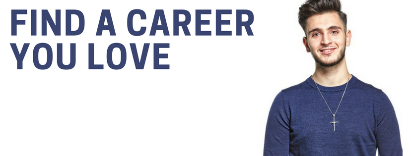 Male student find a career you love